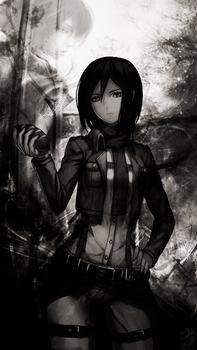 Wallpaper Mikasa Ackerman For Iphone 5 5s by IgorBMaciel
