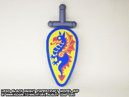 papercraft LEGO Black Knights coat of arms by ninjatoespapercraft