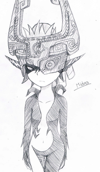Midna sketch by AntiqueCrown