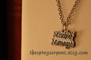 Mischief Managed - Necklace by kittykat01