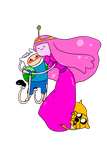 A.T. : Finn, Jake and Princess Bubblegum by JACKSPICERCHASE