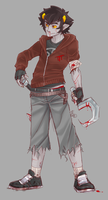 Post-Apocalypse Karkat by robotRainbows