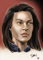 Ming-Na Wen as Agent May by Simon-Williams-Art