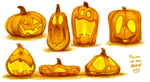 Pumpkins by sketchinthoughts