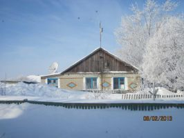 The neighbours ' house after a snow storm by Dash-Ing-Nerro