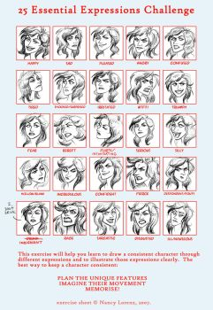 25 Expressions - Tiffany by GingerOpal