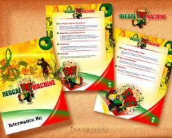 Reggae Machine logo and insert by innografiks
