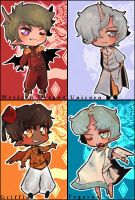 (mythical beasts) chibis by spookiy