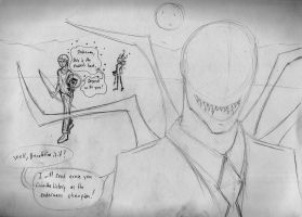 Herobrine Vs Slenderman 1 by Natefurry