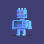 Magnetron robot character design by m7