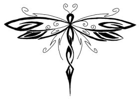 Dragonfly tattoo by designerdragon