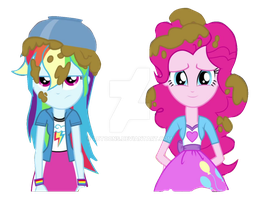 EQG Rainbow Rocks Rainbow Dash and Pinkie Pie by ABToons
