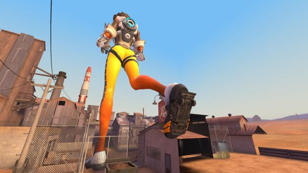 Car stuck to tracers shoe by cubanapple