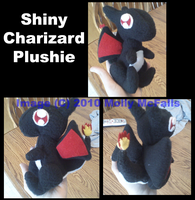 Shiny Charizard plushie by Tez-Taylor