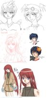 Gaia and Other sketch dump by Alethea-sama