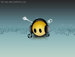smiley headphones by Drisgo