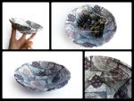 Handmade recycled paper bowl by OmbryB