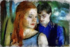 Harry and Ginny by suicidecrew