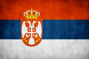 Serbia Grunge Flag by think0