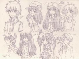 OCs {most of them are rarely used/drawn} by Mai-cama
