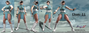 Chun-li - Soul Calibur 5 Creation by W4RR10R82
