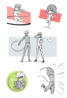 Miraculous Ladybug sketchdump by venrin