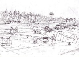 Luftwaffe airfield by Bidass