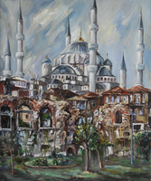 Istanbul - The Blue Mosque by raysheaf
