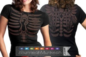 Steampunk Womens Front And Back by Bunneahmunkeah