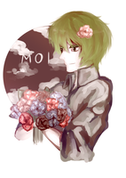 boy with flowers by TheSleepingmol