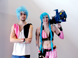 Female and male Jinx by Shinynx