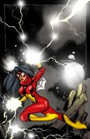 Spiderwoman commission by Maus by billmausart