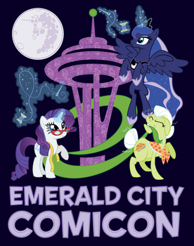 Rarity Takes Seattle Tee Design by xkappax