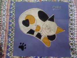 Millie's cat cushion by ElineEngels