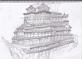 Gold Buddha Tooth Relic Ship by Muramasa91