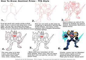 KIDS how to draw TFA Sentinel Prime by Kat-Nicholson
