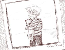 calvin and hobbes by KimchiCrusader