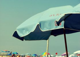 Beach Umbrella by lisaclarkedotnet