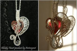 Bloody Heart pendant by Antonymi1