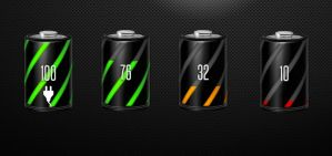 Carbonized Battery HD for xwidget by jimking