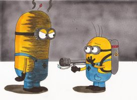 Fried Minion by Cartoon-Eric