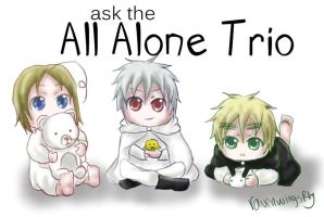 Ask The All Alone Trio! (Hetalia Cosplay Ask Blog) by RavenWingsFly