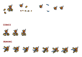 Flamedramon sprites by dabbido
