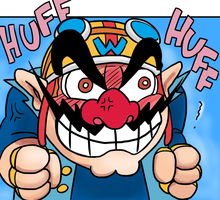 Angry Wario (Wario-Wear version) by mivion