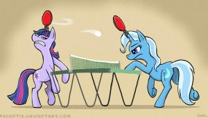 Unicorn ping pong by Pedantia