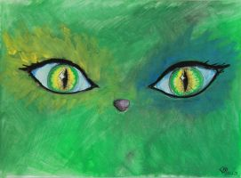 world from green cat eyes by MakajaKitoshi
