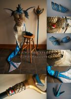 Gyarados Gijinka Cosplay Commission by TerminaCosplay