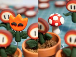 Potted Fireflower Extras by Whuzzit