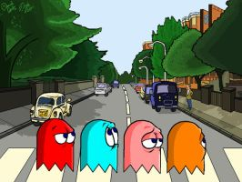 Pac Man Abbey Road by DanDav87
