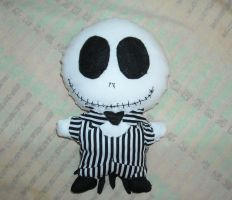 Chibi Jack Skellington Plush by DonutTyphoon